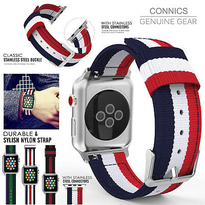 Apple Watch Replacement Band 42mm Woven Nylon Bracelet For iWatch Series 3 2 1