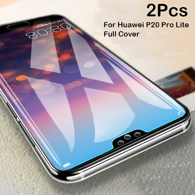 2X 3D Full Cover Tempered Glass Film Screen Protector Fr Huawei P20 Pro/P20 Lite