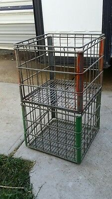 vintage metal milk crates pick up only  no postage  unless you arrange it