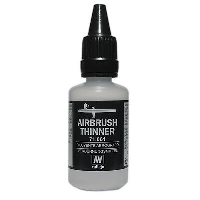 vallejo model air airbrush thinner acrylic paint bottle 32ml