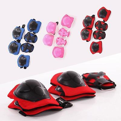 Kid 6pcs Roller Skating Scooter Cycling Knee Elbow Wrist Protective Gear Pads 0ウ