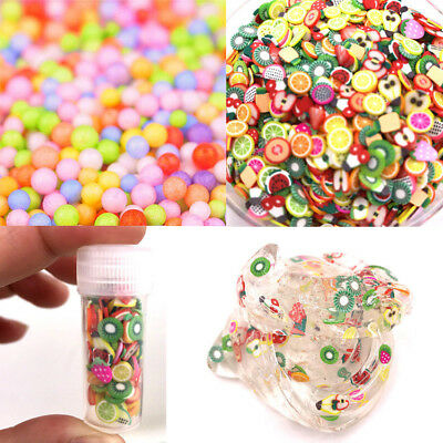 Hot Art Foam Slime Fruit Slices for Homemade DIY Crafts Slime Supplies Accessory
