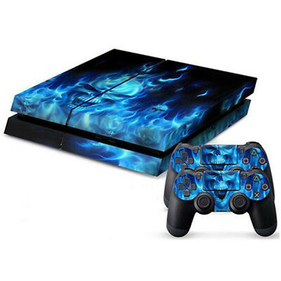 Skull Decal Skin Sticker Cover Wrap For Sony PlayStation4 PS4 Console Controller