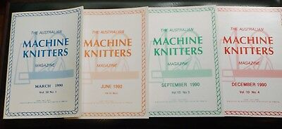 "4 Of ""the Aust Machine Knitters Magazine"" 1990  Exc Cond I Will Post"