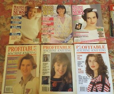 "6 Collectable 3- ""machine Knitting News"" & 3- "" Profitable Machine Knitting"""