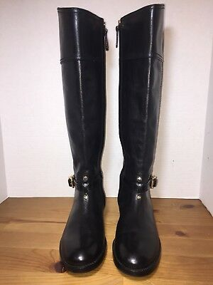 31e816af2f39 TORY BURCH Black Leather STOWE Motorcycle BOOTS Women s 8 BRAND NEW ...