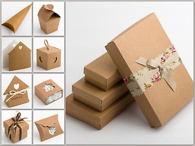Wedding Favour Rustic Kraft Gift Boxes - 10 pack