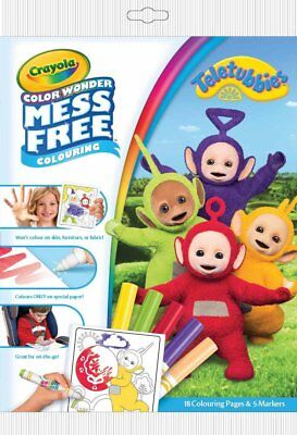 Crayola Colour Wonder Teletubbies Mess Free Magic Colouring Book and Pens