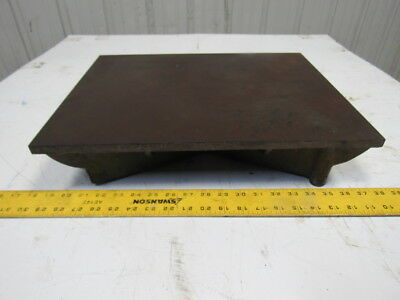 """14""""x18"""" Webbed Cast Iron Surface Plate Machinist Lay Out Inspection"""