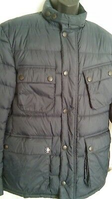 Barbour International Steve McQueen Men's Insulated Puffer Jacket Navy Blue Sz M