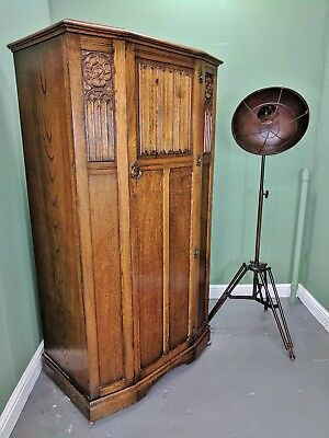 An Antique Style solid Oak Single Wardrobe ~Delivery Available~