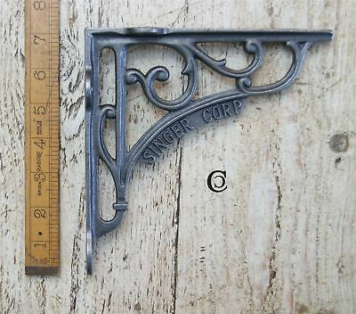 "Rustic Iron Blacksmiths ""Singer Corp"" Shelf Bracket - 180mm x 200"