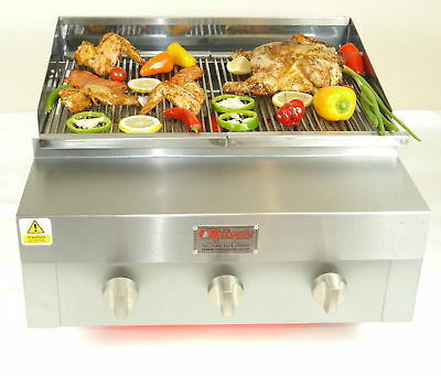 3 Burner Flame Grill Charcoal Grill With Full Griddle Chargrill Bbq Grill