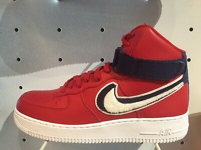 buy online 27d4a e478c NIKE AIR FORCE 1 One High LV8 Gym Red White Blue Varsity AF1 Sz 8-13 806403  603
