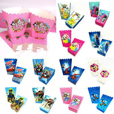 6 x Moana LOL Minion Popcorn Box Favor Boys Girls Party Birthday Decoration