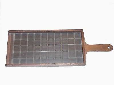 Japanese Antique Wood Coin Counting Board Or Tray