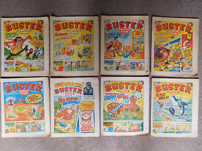Buster / Monster Fun 1977 & 1980 Comic job lot collection 1970s & 1980s