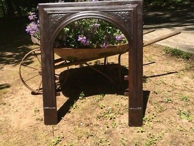 Antique Cast Iron Fireplace Surround Arched With Great Detail