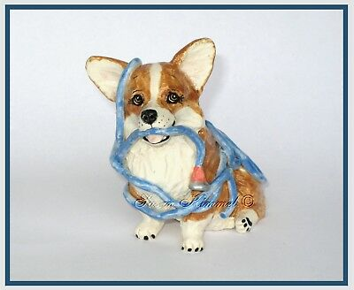 """KIMMEL CORGI SCULPTURES ~ """"Uh . . . do you need help with the watering?"""" *OOAK*"""