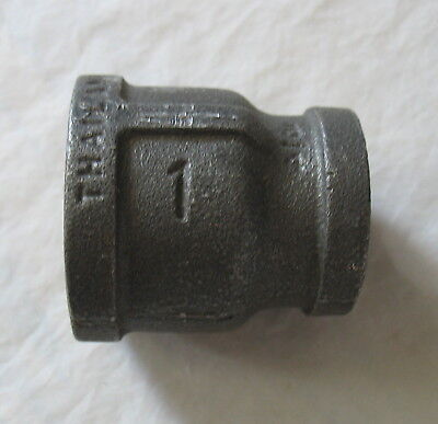"(1) 1"" - 3/4"" NPT Female Black Pipe Reducer Bell Fitting Standard Malleable Iron"