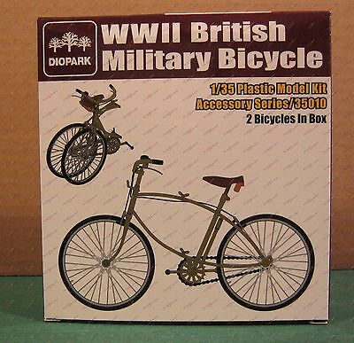 1/35 WWII British Military Bicycle (2) Diopark 35010 Plastic Model Kit