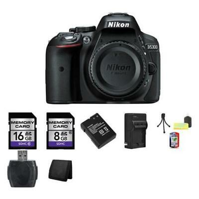Nikon D5300 DSLR Camera - Black 24GB Package