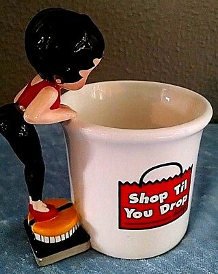 "1998 Betty Boop Coffee Cup ""Shop Till You Drop Baby"" Boopingdales Hot Chocolate"