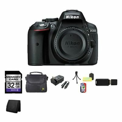 Nikon D5300 Digital SLR Camera (Body) - Black 32GB Best Value Kit
