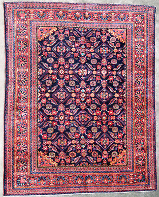 Tapis ancien rug oriental orient tribal ethnique Persan Perse Lilian 1930