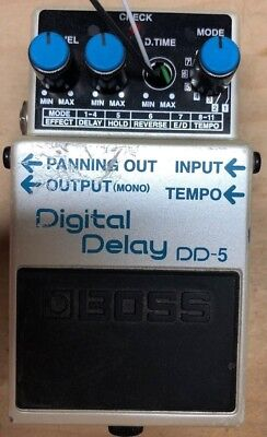 Boss DD-5 Delay Guitar Effect Pedal Modded delay for external pedal
