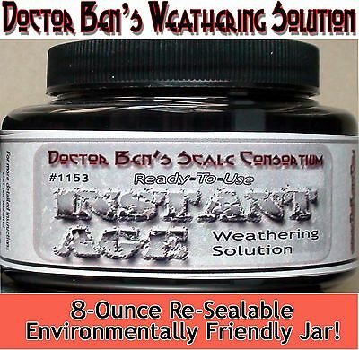 Instant Age Weathering Solution-8oz Doctor Ben's Scale Consortium HOn3/1;87