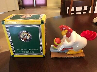 Warner Brothers 1996 Rare Foghorn Leghorn And Egghead Measuring Spoons Set H914