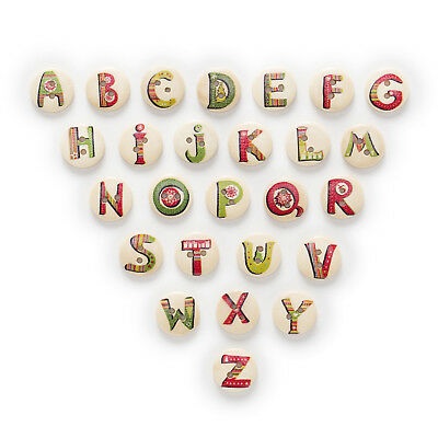 50pcs 2 Hole Xmas Letter Wood Buttons Decor Sewing Scrapbooking Clothing 15mm