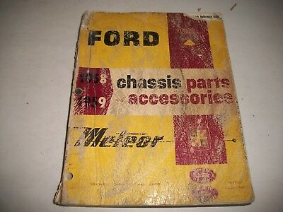 1958 1959 Ford Meteor T-Bird  Illustrated Chassis & Accessories  Parts Catalog