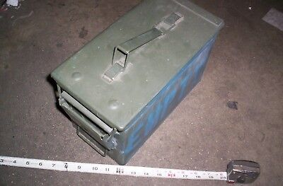 50 Cal M2A1 Military Ammo Can 5.56mm .50 Caliber Metal Box ** GEOCACHE