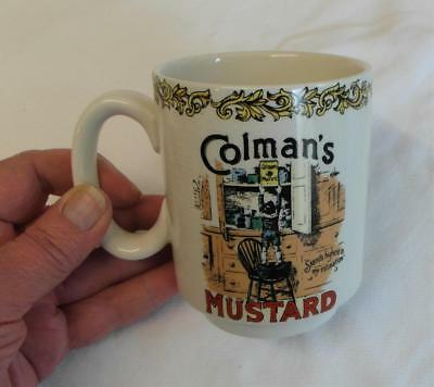 LORD NELSON POTTERY Vintage COLEMANS MUSTARD Ceramic MUG Victorian Advertisement