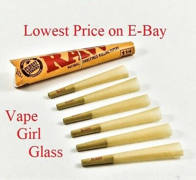RAW Classic Pre-Rolled Cones 1 1/4 Rolling Papers 6 per pack