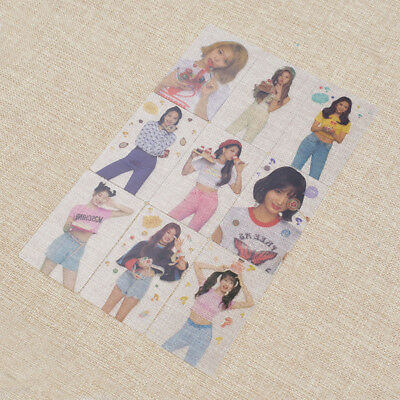 Twice What is love Transparent Cards Handmade DIY Paper Fans Collections 1 Set