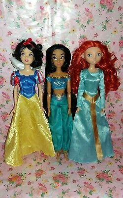 Disney Doll Bundle Snow White Doll Merida Doll Jasmine Doll Disney Classics Doll