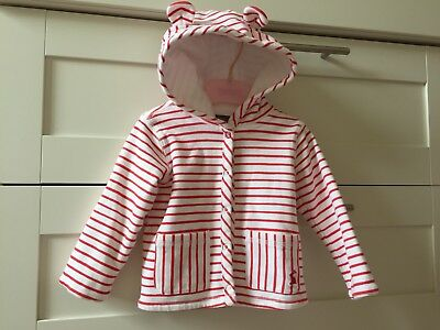 Joules Baby Girl Lightweight Summer Jacket With Teddy Ears! 6-9 Months