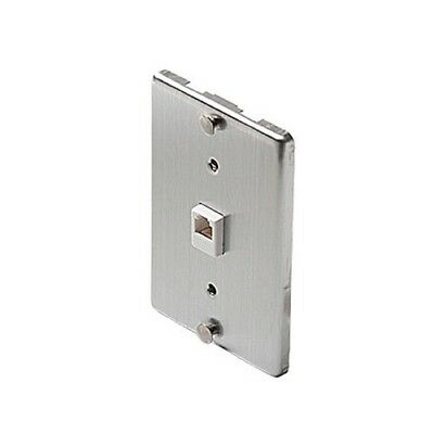 Eagle Wall Plate Telephone Stainless Steel Jack Modular 6P4C Phone Wall Mount