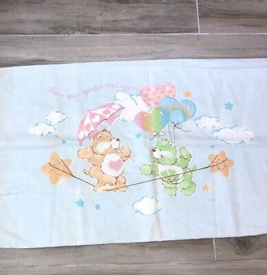 Vintage Care Bears Pillow Case Share Your Special Feelings Sham Twin