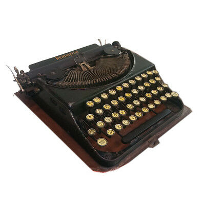1920's French Remington #2 Typewriter In Special Green. RARE! AZERTY keyboard