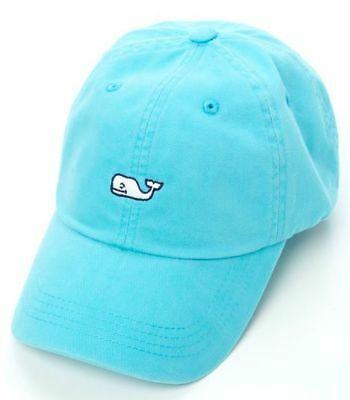 NEW Vineyard Vines Whale Logo Baseball Cap Hat- Adjustable Unisex- Aqua
