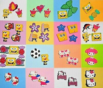 Sponge & Kitty Shoe Charms Shoe Buttons Shoe Pins Cake Toppers