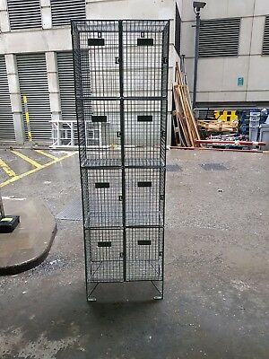 cage lockers for ppeor cycle clothing storage