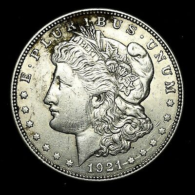 1921 D ~**ABOUT UNCIRCULATED AU**~ Silver Morgan Dollar Rare US Old Coin! #W38