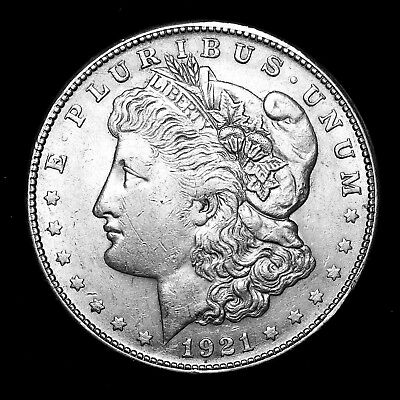 1921 S ~**ABOUT UNCIRCULATED AU**~ Silver Morgan Dollar Rare US Old Coin! #J39