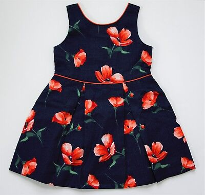 Janie and Jack Floral Pique Dress Size 2T NWT Navy/Floral Brand New