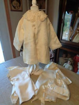 3 Vintage Baby/Toddler Coats/1 With Bonnet~Satin Type Material~Great For Dolls~